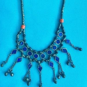 NEW Beautiful One of a kind Indian Lapiz necklace